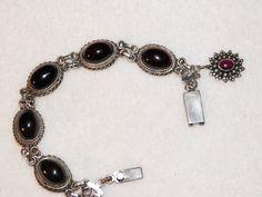 Vintage Garnet Bracelet by MerakiByMe on Etsy