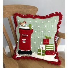 Just Pootling: Waffle Blanket Crochet Fall, Christmas Crochet Blanket, Christmas Cushions, Aran Weight Yarn, Bobble Stitch, Christmas Knitting Patterns, Crochet Cushions, Yarn Bowl, Paintbox Yarn