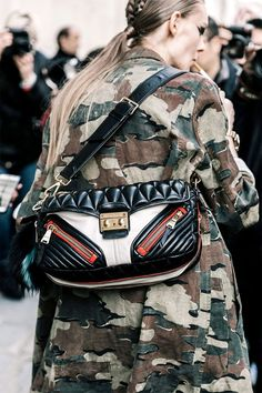 Make camouflage the focal-point of your look.