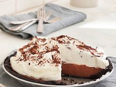 With a rich, creamy filling and melt-in-your-mouth crust, this is quite possibly the best chocolate pie ever.
