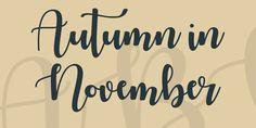 Autumn in November Font · 1001 Fonts