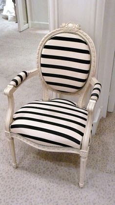 hello there, striped chair
