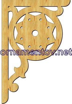 Кронштейны : Кронштейн 0073 Marking Gauge, Wooden Toys, Stencils, Woodworking, Shelves, Ornaments, Pattern, Moldings, Craft