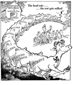 Seuss was considered a cartoonist legend. Here is a cartoon he drew during WWII, depicting how Hitler was taking control of Europe. Nagasaki, Hiroshima, Fukushima, History Memes, Us History, Oral History, Canadian History, American History, World History Teaching