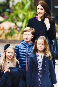 iloveroyalfamilies:  Crown Princess Mary, Prince Christian and Princess Isabella (and friend) arrived to Tivoli Gardens where they attended the premiere of the new family musical 'El Dorado - The search for the golden city', October 5, 2013.