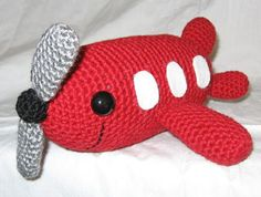 "Happy airplane! Pattern in ""Amigurumi Two"" by Ana Paula Rimoli"