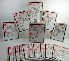 Cardstock: Whisper White, Chocolate Chip Stamp Set: Garden in Bloom, One Big Meaning Accessories: Rhinestone Jewels Flower Cards, Butterfly Cards, Friendship Cards, Tampons, Cool Cards, Creative Cards, Homemade Cards, Stampin Up Cards, Thank You Cards