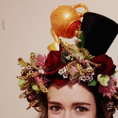 Mad Hatter's Tea Party: Definitely needed a flower crown definitely needed to complete it with a teapot and top hat. . . . #redfragrance #redfragrancefloral#freshflowers #crowsnest#crowsnestflorist#stleonards#stleonardsflorist#sydneyflorist #flowercrown #madhatter
