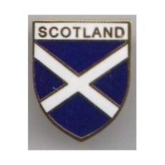 Scotland Scottish Saltire St Andrews Cross Shield Badge