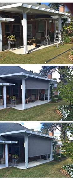 Toile fixe tendu résistant mieux aux vents pergolas Pinterest - toile tendue pour terrasse