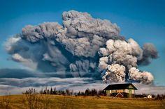 Eyjafjallajokull Eruption, Iceland by Gunnar Gestur
