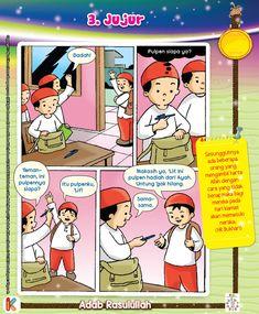 Komik Adab Keutamaan Jujur | Ebook Anak Kids Story Books, Stories For Kids, History Of Islam, Working With Children, Baby Care, Muslim, Dan, Preschool, Religion
