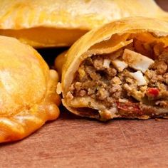 If You Love Empanada's You Have To Try This Amazing & Incredible Flavorful Version Made With Pork Chili! Empanadas are an easy and incredible meal to make probably because you can The Chew Recipes, Mexican Food Recipes, Cooking Recipes, Ethnic Recipes, Recipes From Spain, African Recipes, Biscuit Dough Recipes, Biscuit Recipe, Kidney Friendly Foods