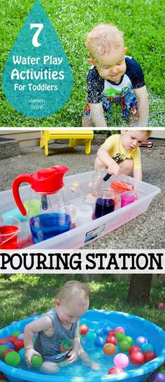 7 Water Play Activities for Toddlers - Create. - 7 Water Play Activities for Toddlers – Create. Fun Water Play Activities for Toddlers Water Play Activities, Sensory Activities, Infant Activities, Activities For Kids, Learning Activities, Kids Water Play, Travel Activities, Sensory Play, Kids Water Games