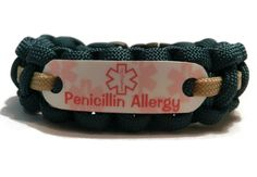 Penicillin Allergy Bracelet For Kids 550 Paracord Medical Alert Make Your