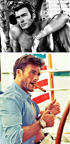 like father like son... Clint & Scott Eastwood