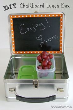 Wow! Is it really get close to the beginning of the new school year? This mom has mixed feelings about that. I'll get more work done, but I'll miss them like crazy. I love this DIY Chalkboard Lunch Box, a great way to tell them you're thinking about them through the day.   Find more great projects, recipes and home decor sales at https://withterri.athome.com/home.html