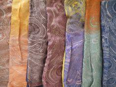 Light scarves - gradient.