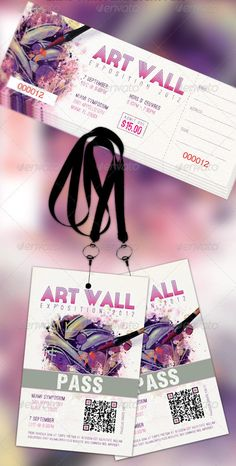 Buy Art Expo Ticket Event Pass Template by Godserv on GraphicRiver. Art Expo Ticket Event Pass Template is geared towards usage for any Art Event. Id Card Design, Web Design, Food Design, Ticket Template Free, Photoshop Celebrities, Ticket Design, Design Research, Coupon Design, Branding