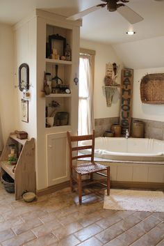 Gorgeous farmhouse bathroom inspiration!