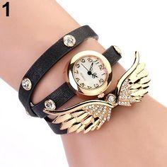 Angel Wings Pendant Bracelet Wrist Watch