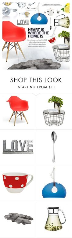 """Home decor"" by totwoo ❤ liked on Polyvore featuring interior, interiors, interior design, home, home decor, interior decorating, Baxton Studio, Privilege, Robert Welch and Kartell"