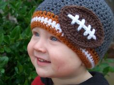 Crochet Baby Hat- Football Team Beanie featured in Texas Longhorns custom team, custom colors
