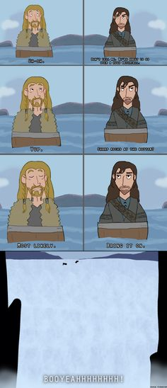 "Bring it on. by Comsical.deviantart.com on @deviantART ""This may be the reason Peter Jackson didn't hire me to help with the next Hobbit movie."" // AHAHAHAHAHAHA!"