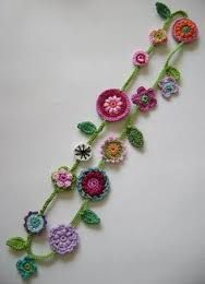 Image result for crochet flower necklace