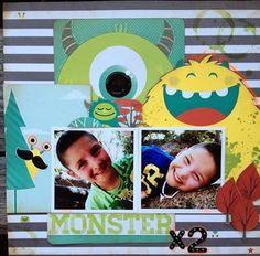 The Inked Stamper: Design Challenge #2 Bo Bunny Our Lil' Monster
