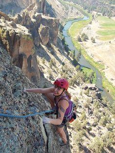 Rock Climbing at Smith Rock State Park in Terrebonne, Oregon