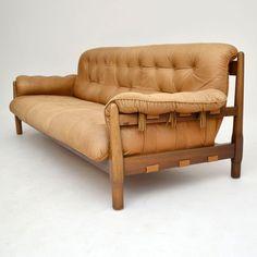 Danish Retro Leather Sofa for Sale London vintage | retrospectiveinteriors.com