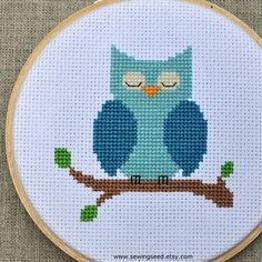 This sweet cross stitch pattern is from Sewingseed on Etsy.