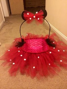 Tutu minnie easter basket that I made!!