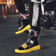 'Freestlye High Tops' Sneakers - Brute Impact Sneakers Fashion, Sneakers Nike, The New Classic, Blade Runner, White Shoes, Leather Shoes, Casual Shoes, High Tops, Lace Up