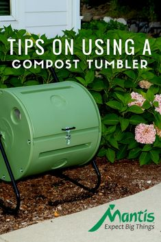Tips For Composting If you're thinking about composting in your garden this year, you will want to consider a Compost Tumbler from Mantis. They are easy to use, compact, and many produce compost in just a few weeks. Read on to learn more! Garden Compost, Garden Soil, Permaculture Garden, Garden Beds, Gardening For Dummies, Gardening Tips, Gardening Quotes, Diy Compost Tumbler, Compost Maker