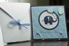 Einladungskarte Elefant Taufe Junge von Eva's CardArt (www.evascardart.de) auf DaWanda.com Baby Shower Cards, Baby Cards, Kids Cards, Baby Shower Invitations, Baby Shower Gifts, Little Elephant, Baby Elephant, Third Child Announcement, Karten Diy