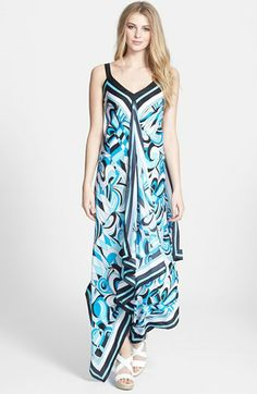 MICHAEL Michael Kors Print Scarf  Maxi Dress available at #Nordstrom