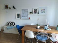 Ikea mosslanda picture ledges with plants, Mapiful, Vitra dolls and housebird