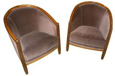 Art Deco Style Club Tub Chairs French style | Seating Items | Art Deco Collection