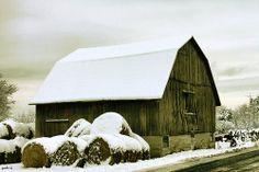 Snowy Barn #2