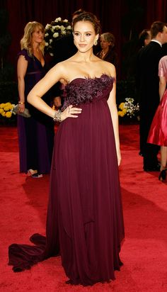 In Marchesa at the 2008 Academy Awards   - ELLE.com