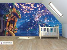 Disneys Tangled inspired wall... I would love to have something ...