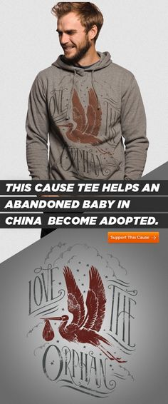 How cool is it knowing that you can help an orphaned baby in China become adopted by purchasing this sweater? Oh, and you can stay warm while doing it! ;) #Charity #Fashion #Sweater #Awesomeness
