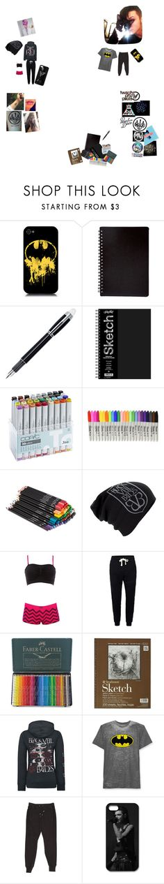"""""""Art Date with Andy and Crow"""" by lexaguilbert ❤ liked on Polyvore featuring Montblanc, Sharpie, Disney, Charlotte Russe, Topman, Faber-Castell, Hybrid and Balmain"""