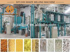 50 ton per 24hr Corn flour mill mach...