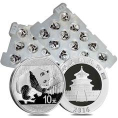Lot of 30 - 2016 30 gram Chinese Silver Panda 10 Yuan .999 Fine BU In Capsule (2
