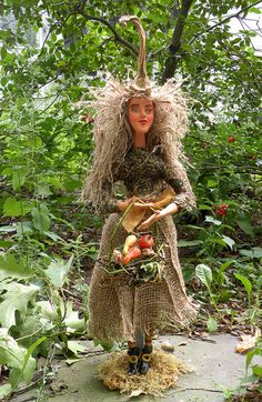 Harvest Witch Art Doll #wicca #pagan