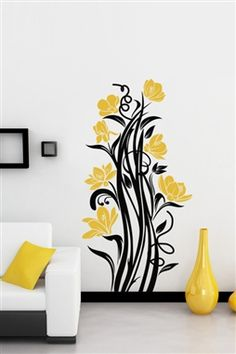Wall Decals - Organic Sketch Standing - Trend Home Art Wall Kids, Wall Art Sets, Diy Wall Art, Wall Painting Decor, Nursery Wall Decor, Bedroom Wall Designs, Wall Art Designs, Bedroom Ideas, Flower Wall Decals