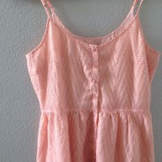 NWT peach summer dress Brand new with tag! Size S Jack by BB Dakota peach textured summer dress. buttons line the front of the dress and spaghetti straps are adjustable. Jack by BB Dakota Dresses
